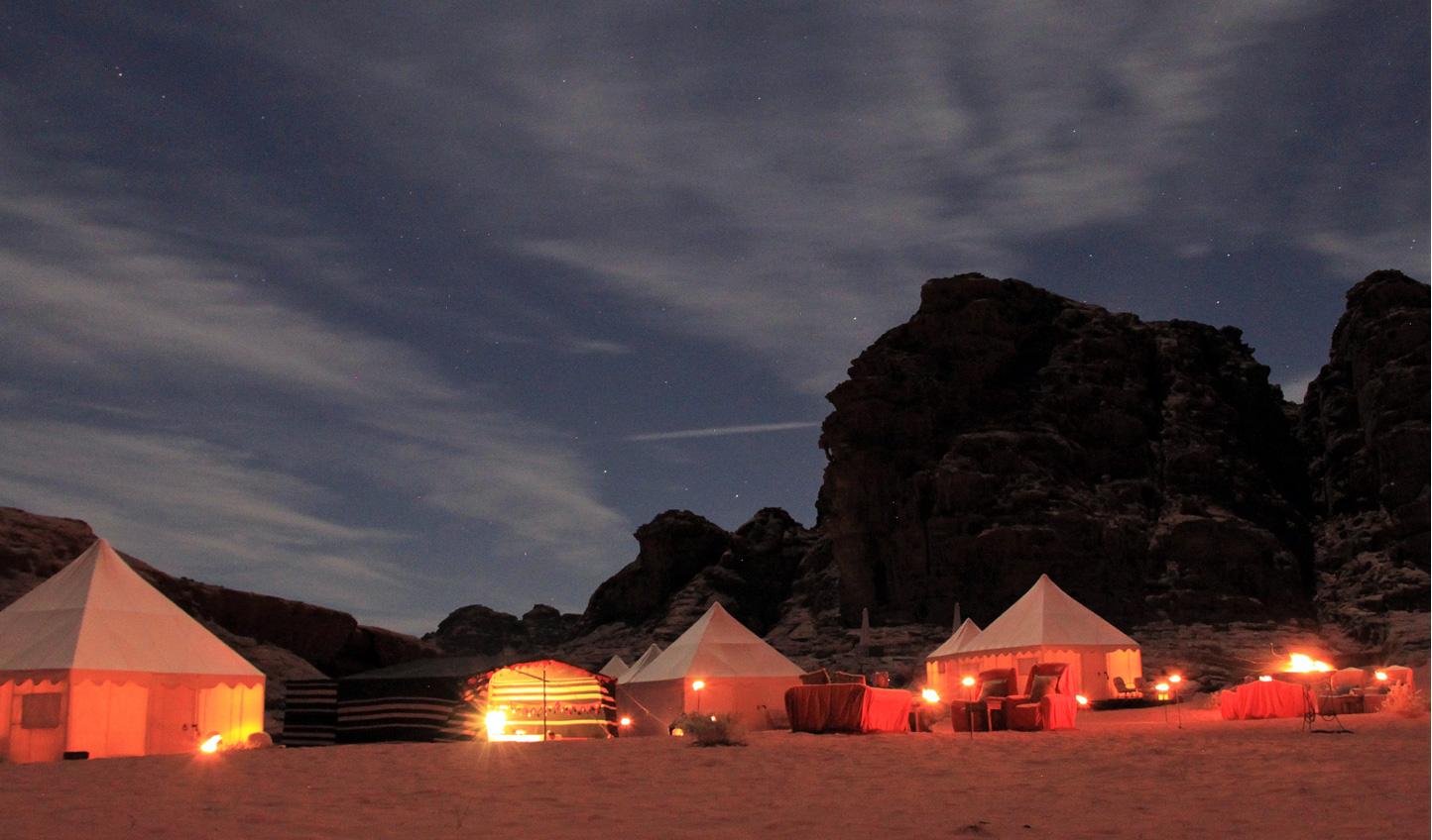 Slumber beneath the stars in the heart of Wadi Rum