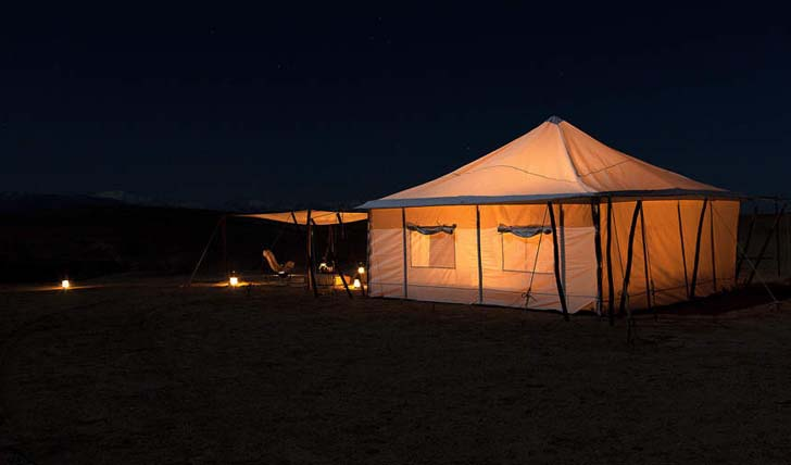Scarabeo Camp by night