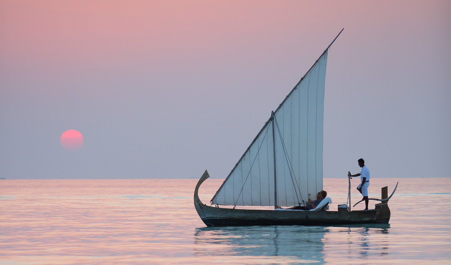 Sail away aboard a traditional Maldivian Dhoni