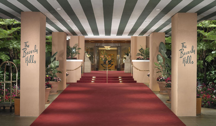 Hotel Entrance | Beverly Hills Hotel | California | Tailor Made Holidays