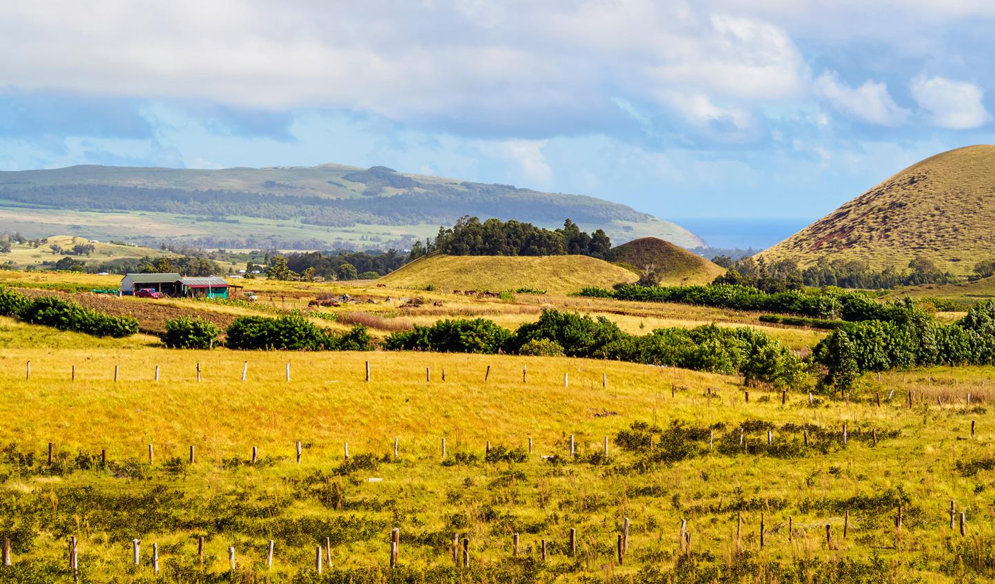 Move on to Easter Island and climb up Maunga Terevaka