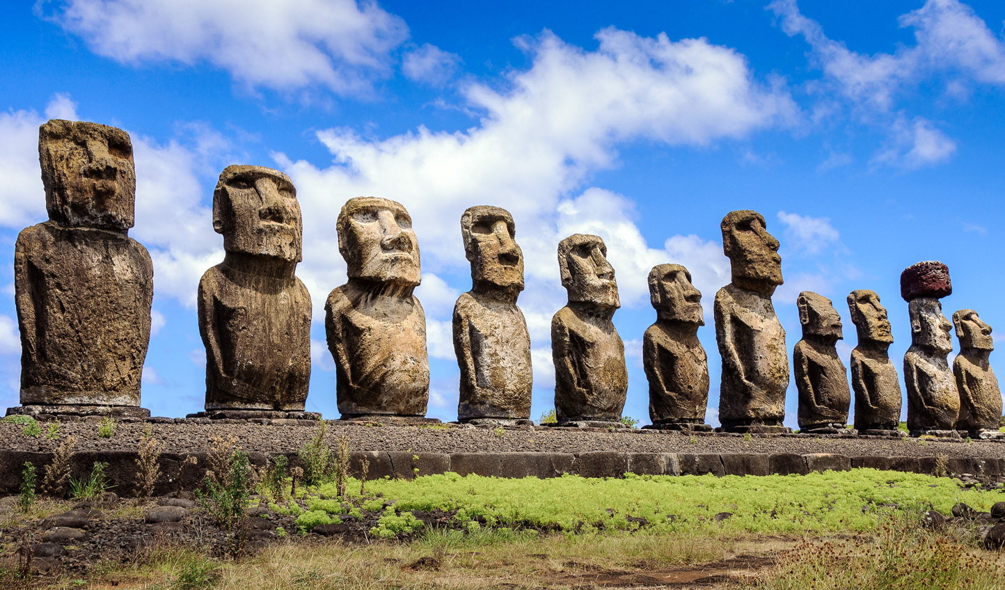 See the renowned Moai Carvings that make Easter Island famous