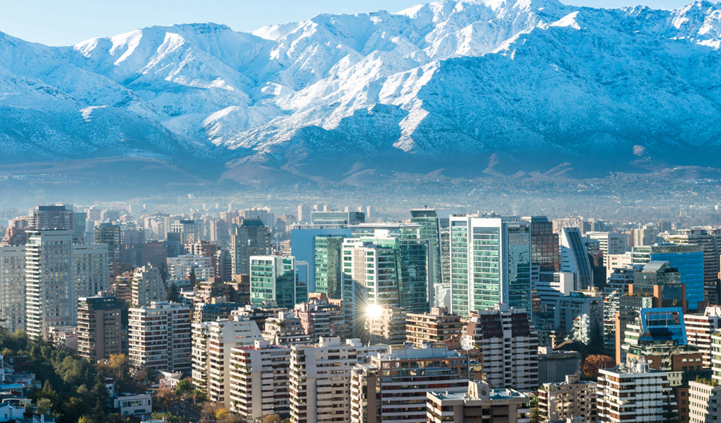 Stunning views of Santiago, your starting location