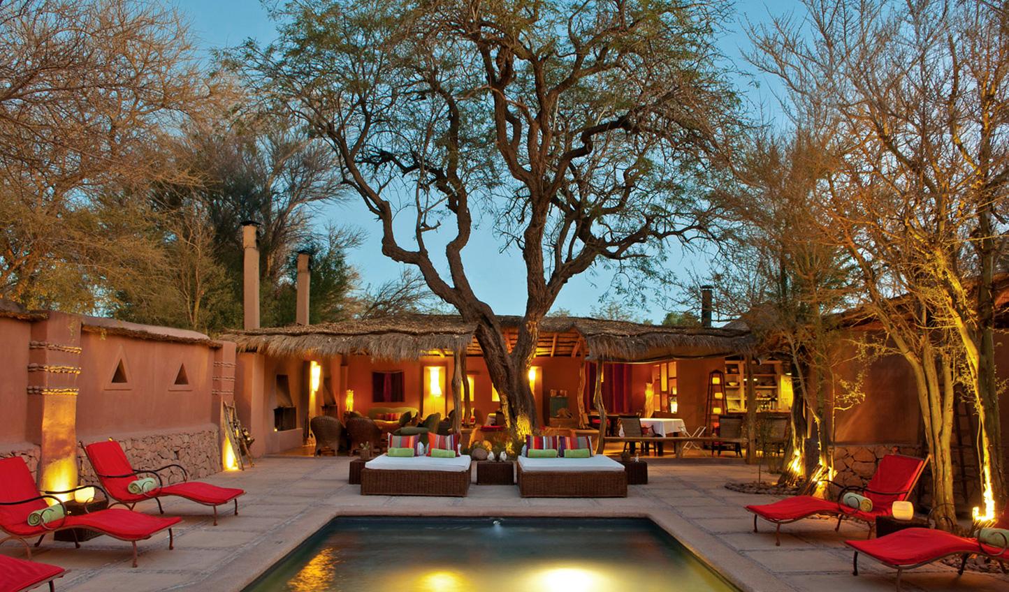 Stay at the luxurious Awasi Hotel in San Pedro de Atacama