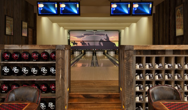 bowling alley at saloon bar