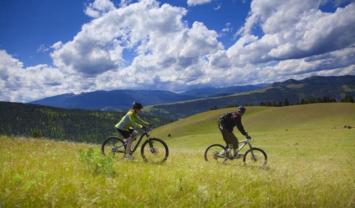 Bike across mountains