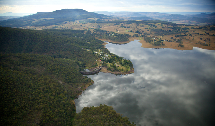 View over the The Scenic Rim, Brisbane