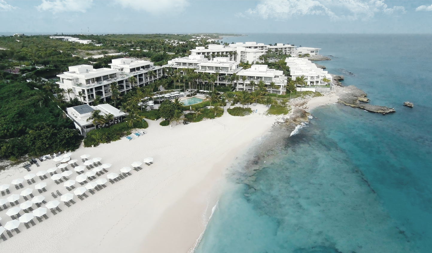 Enjoy the stunning white coastline of Four Seasons Resort Anguilla