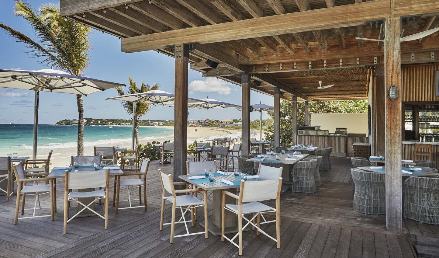 Dine al-fresco and enjoy the salty air and sea breeze