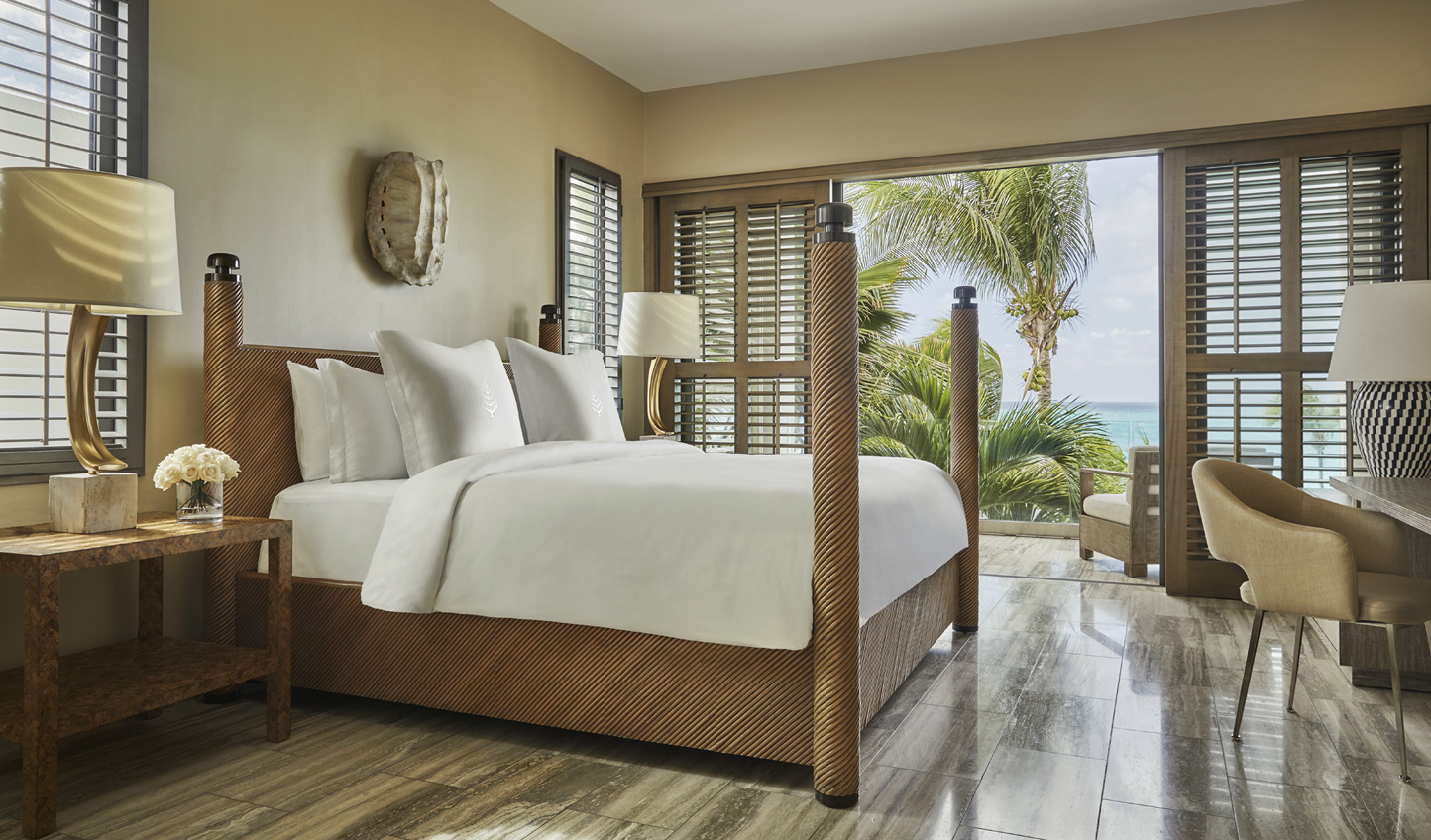 Gorgeous bedrooms overlooking the swaying palm trees