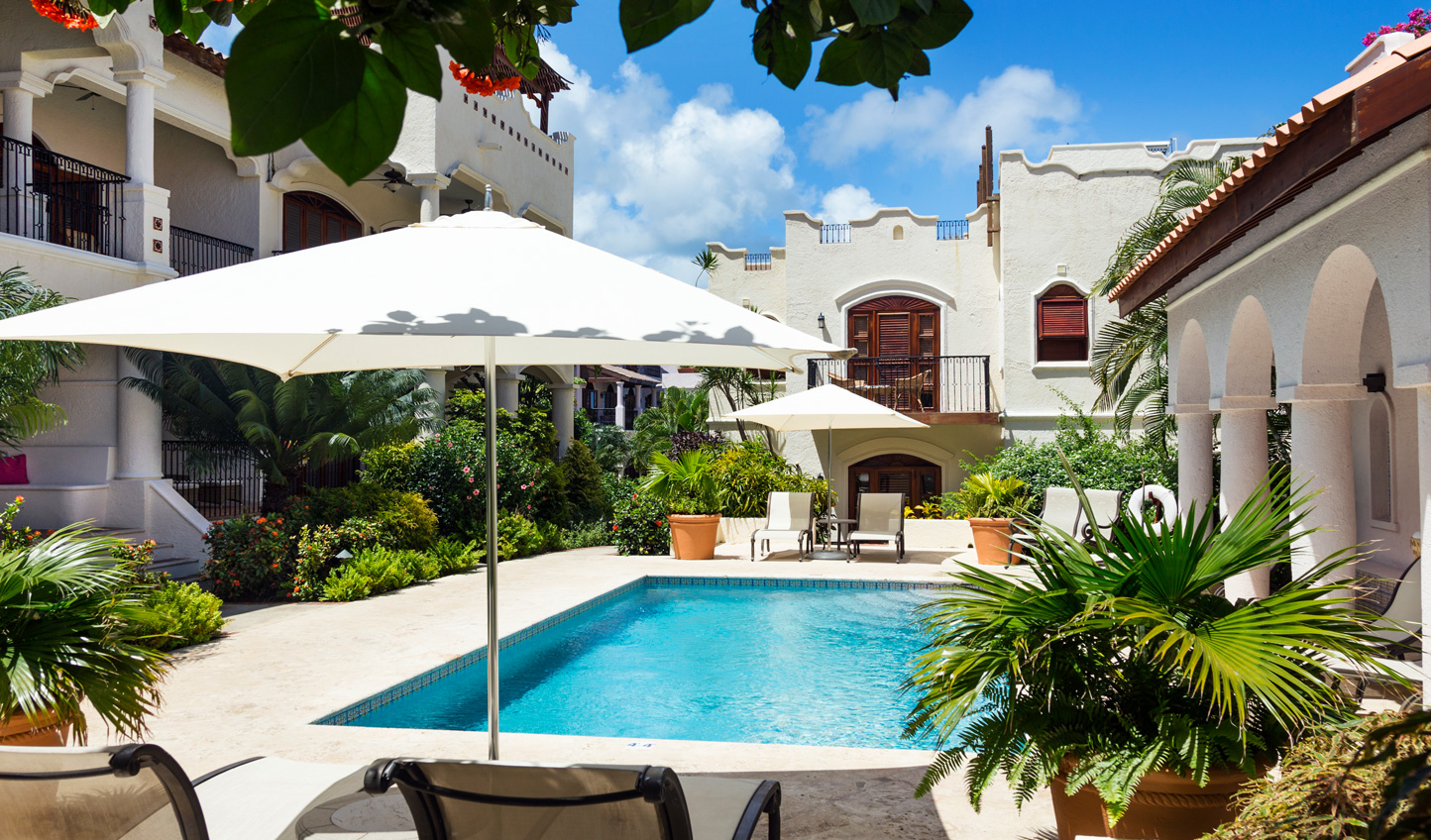 Or relax by the courtyard swimming pool