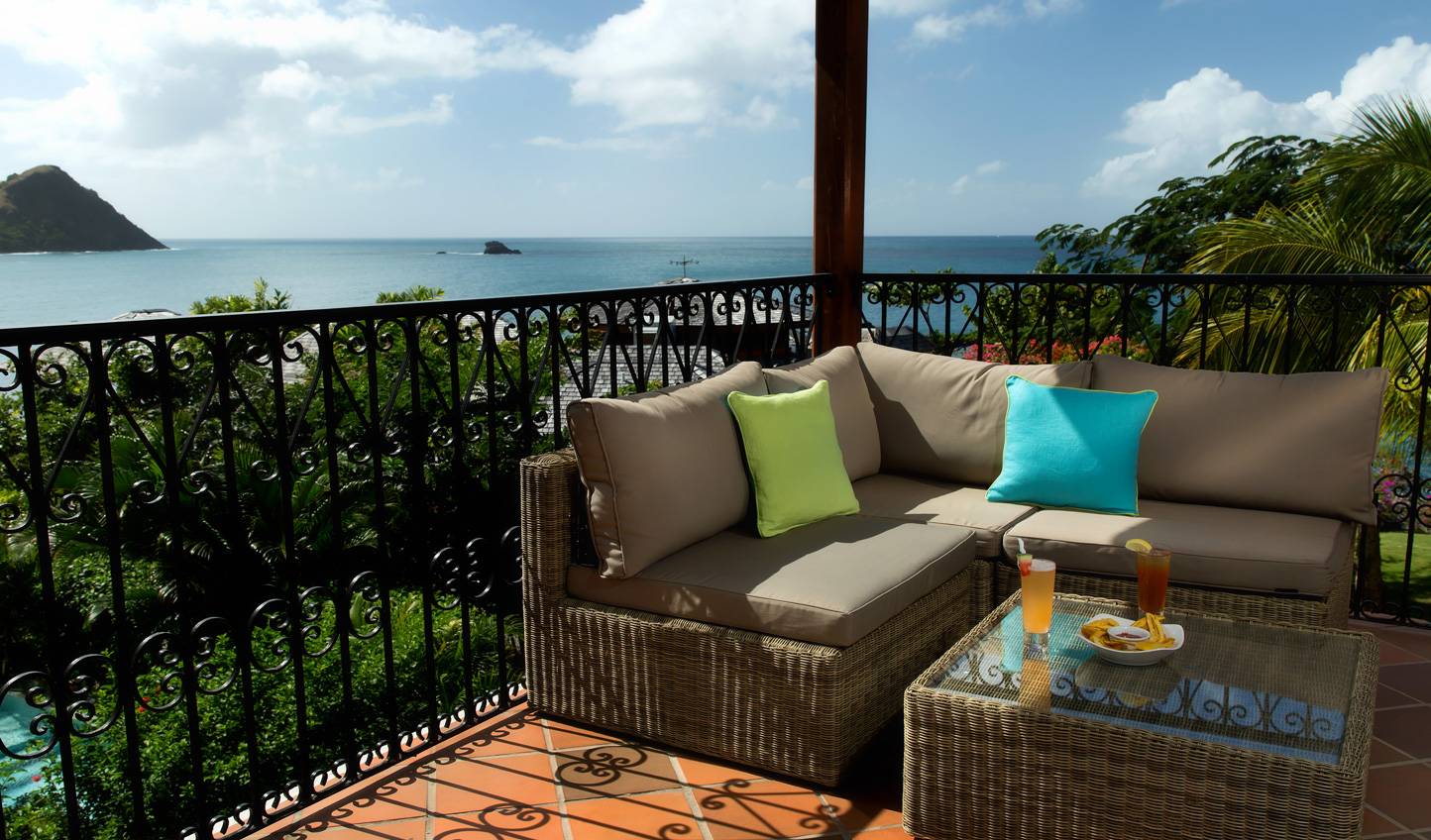 Gaze out over the horizon on your private balcony