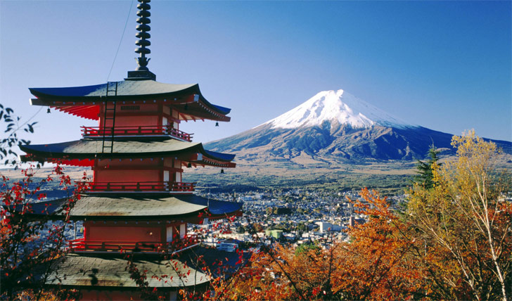 The iconic Mount Fuji