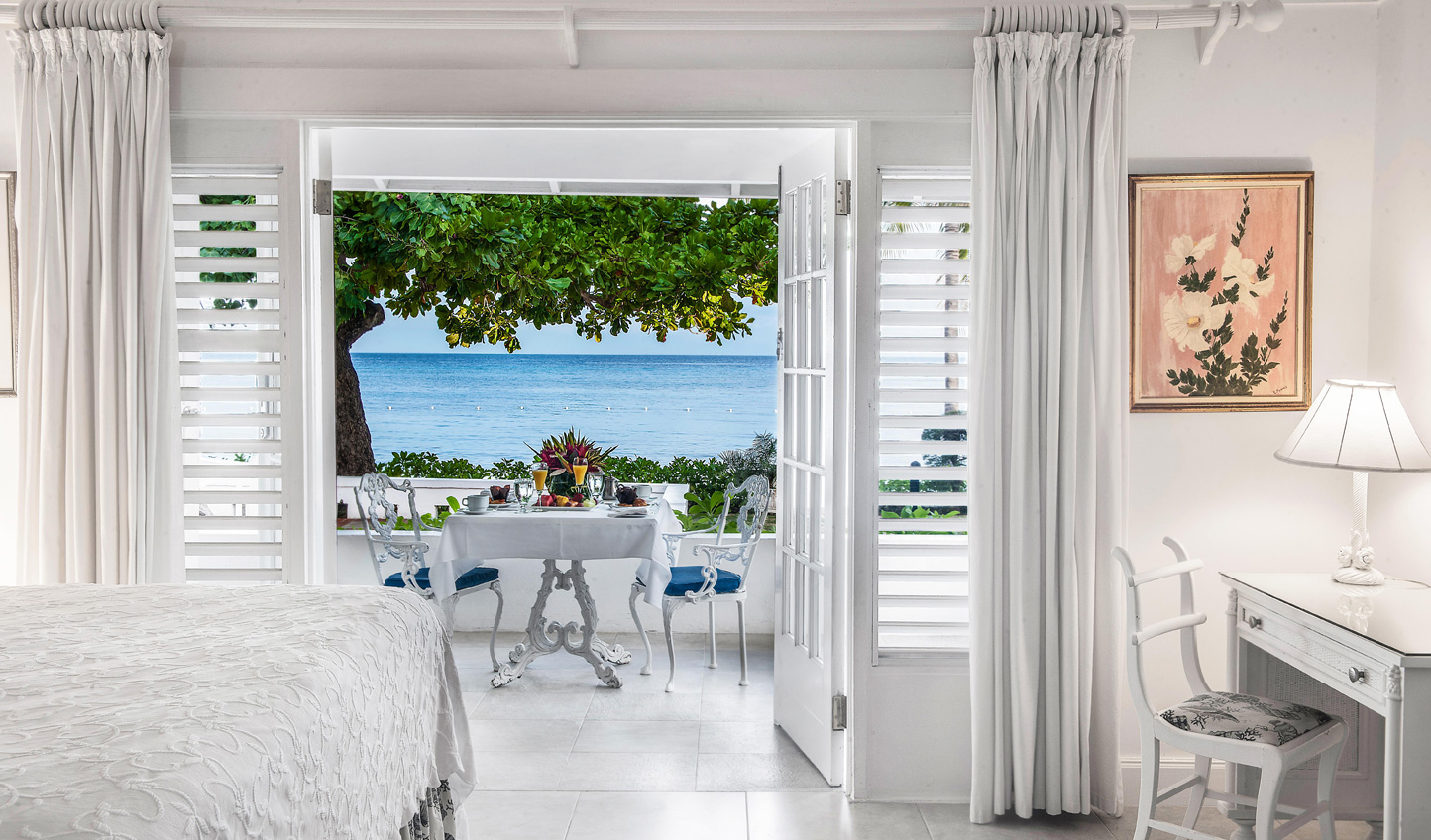 Step from your suite onto the terrace and enjoy views of the Ocean