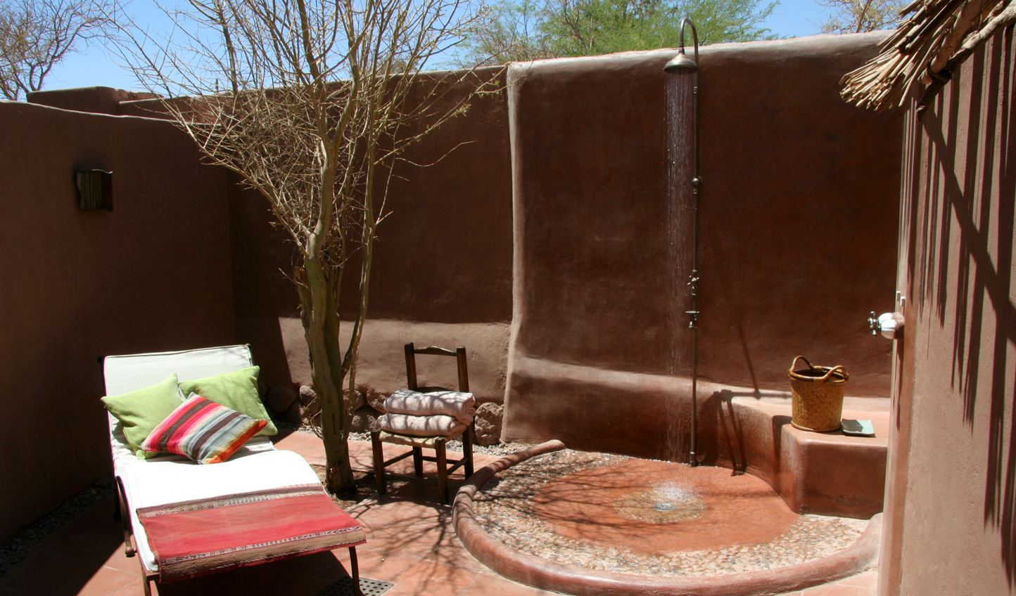 Get closer to nature in the outdoor bathrooms