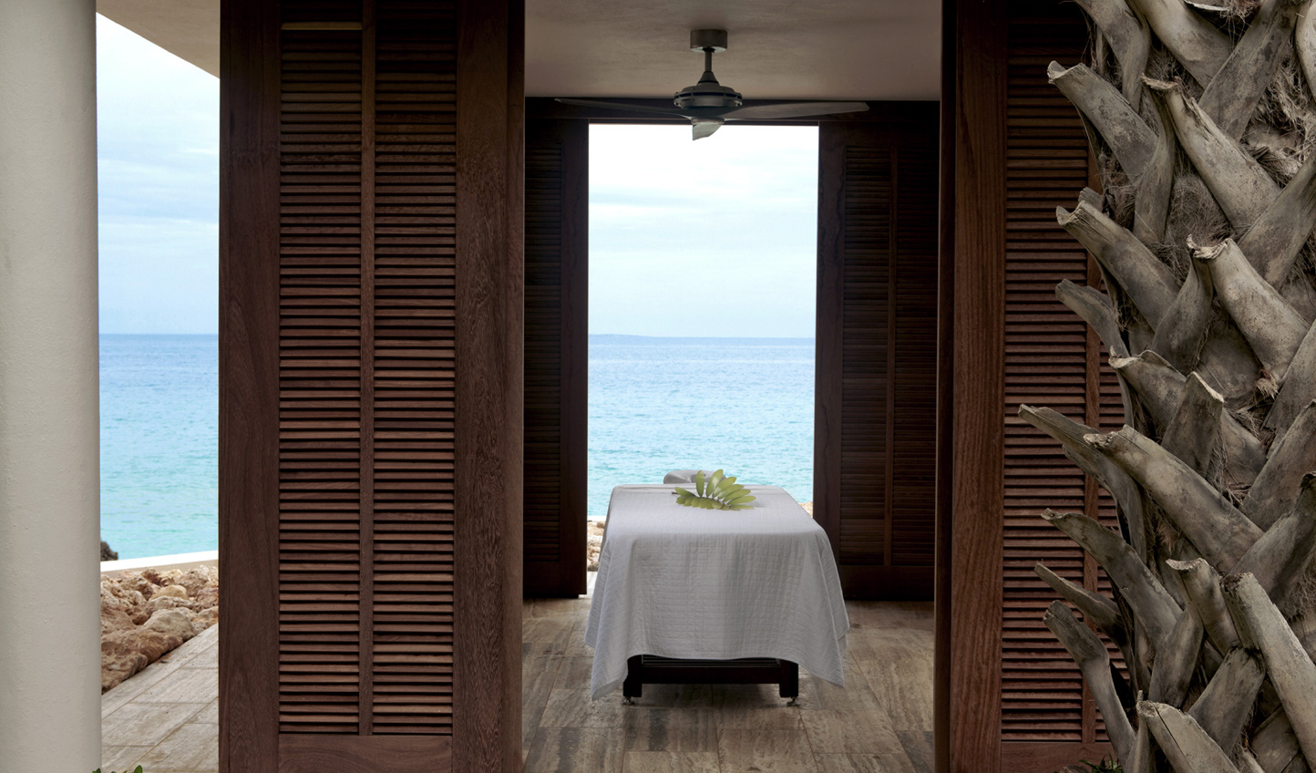 A spa with a natural soundtrack of waves crashing? Sign us up.