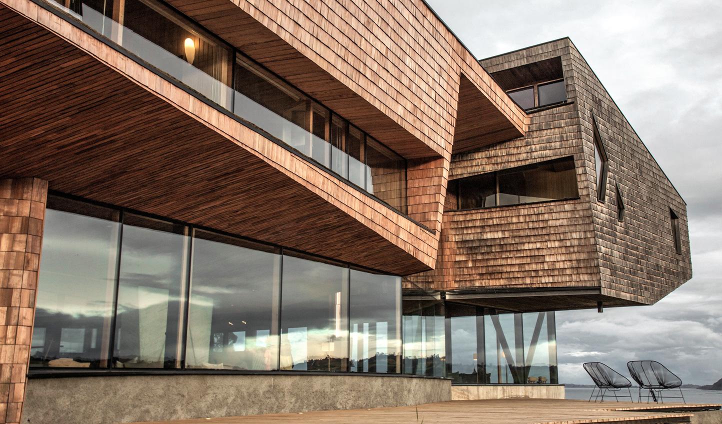 Striking modern design at Tierra Chiloé