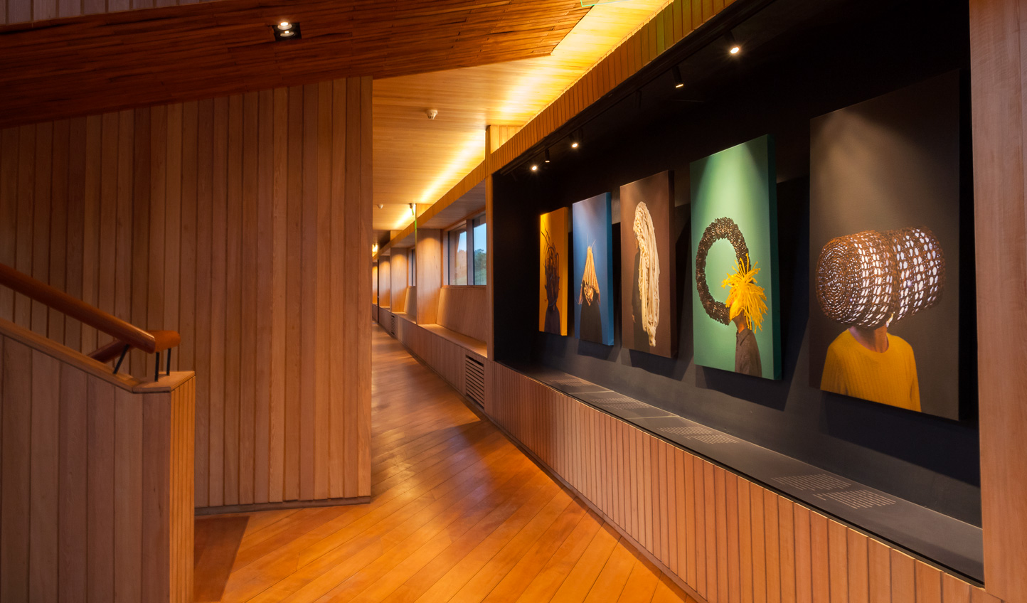 Striking modern art perfectly complements the hotel's contemporary design