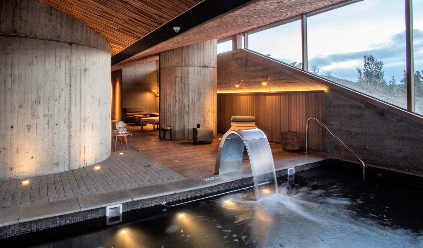 Unwind in the spa after a day of adventure