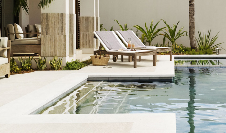 Relax by a private pool
