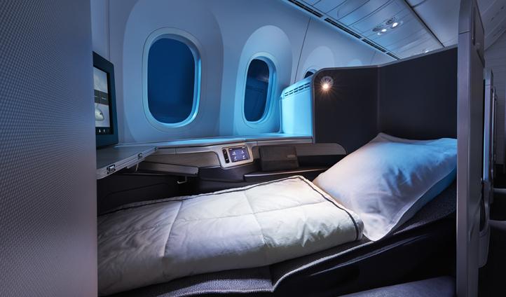 Business class on board an Air Canada flight