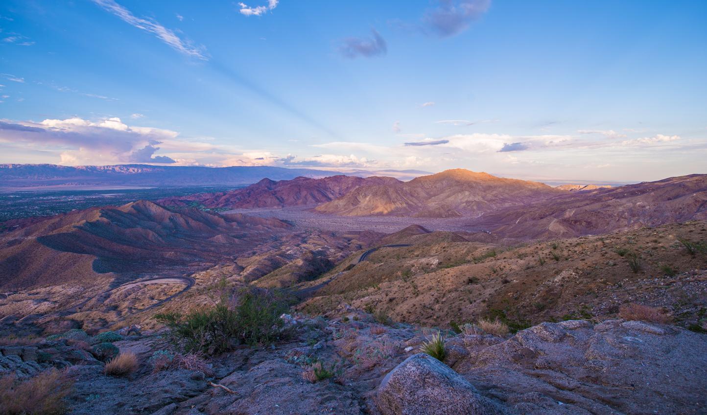 Watch the sun dip beyond Coachella Valley