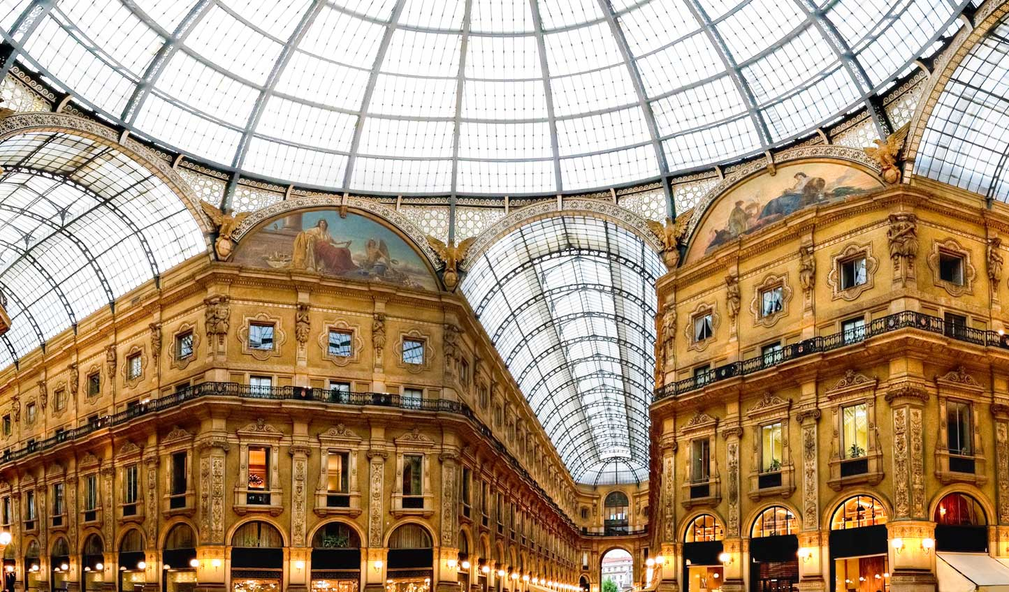When in Milan, it would be rude not to indulge in a spot of shopping at Galleria Vittorio Emanuele II