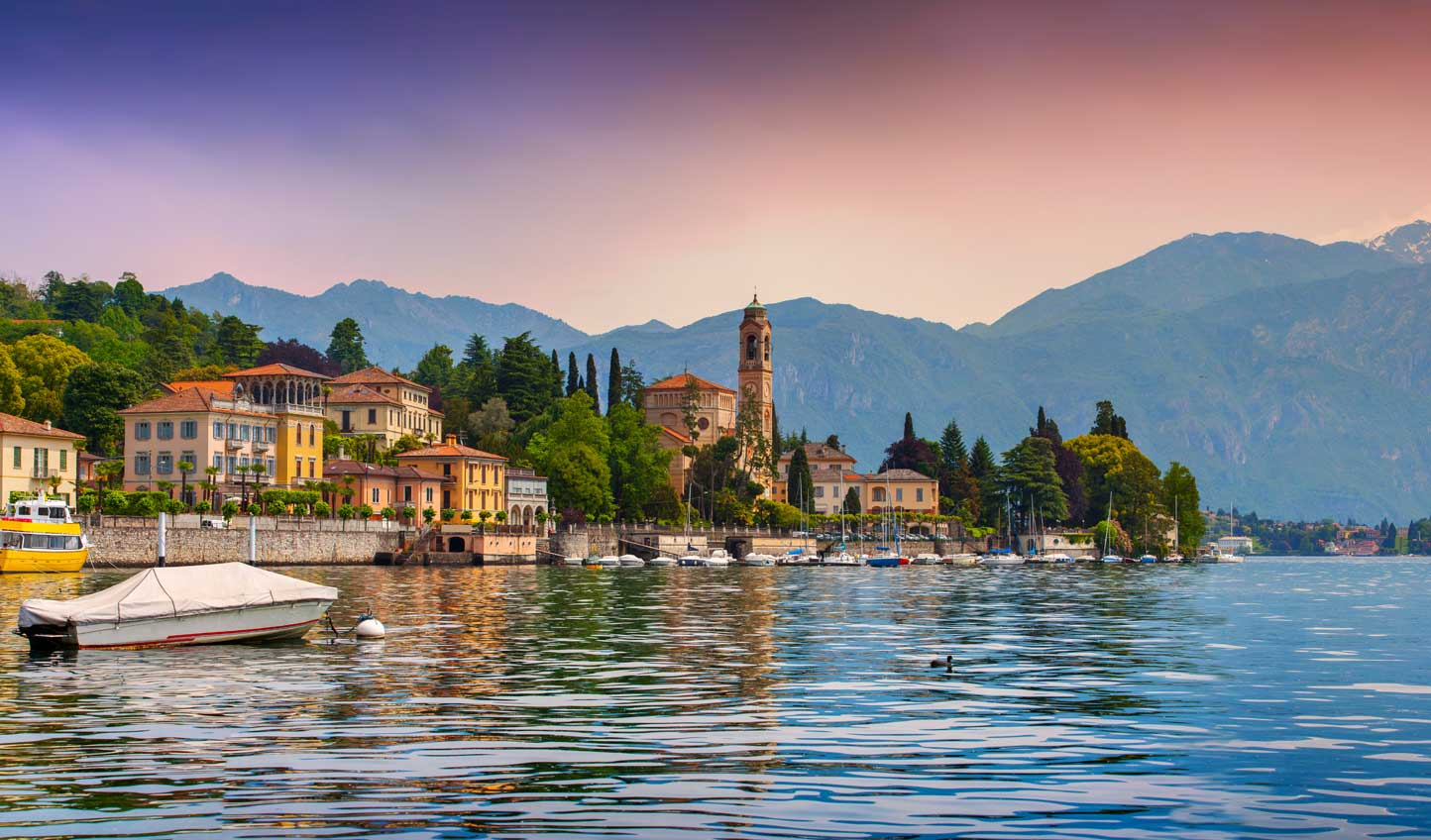 Savour breathtaking sunsets over Lake Como