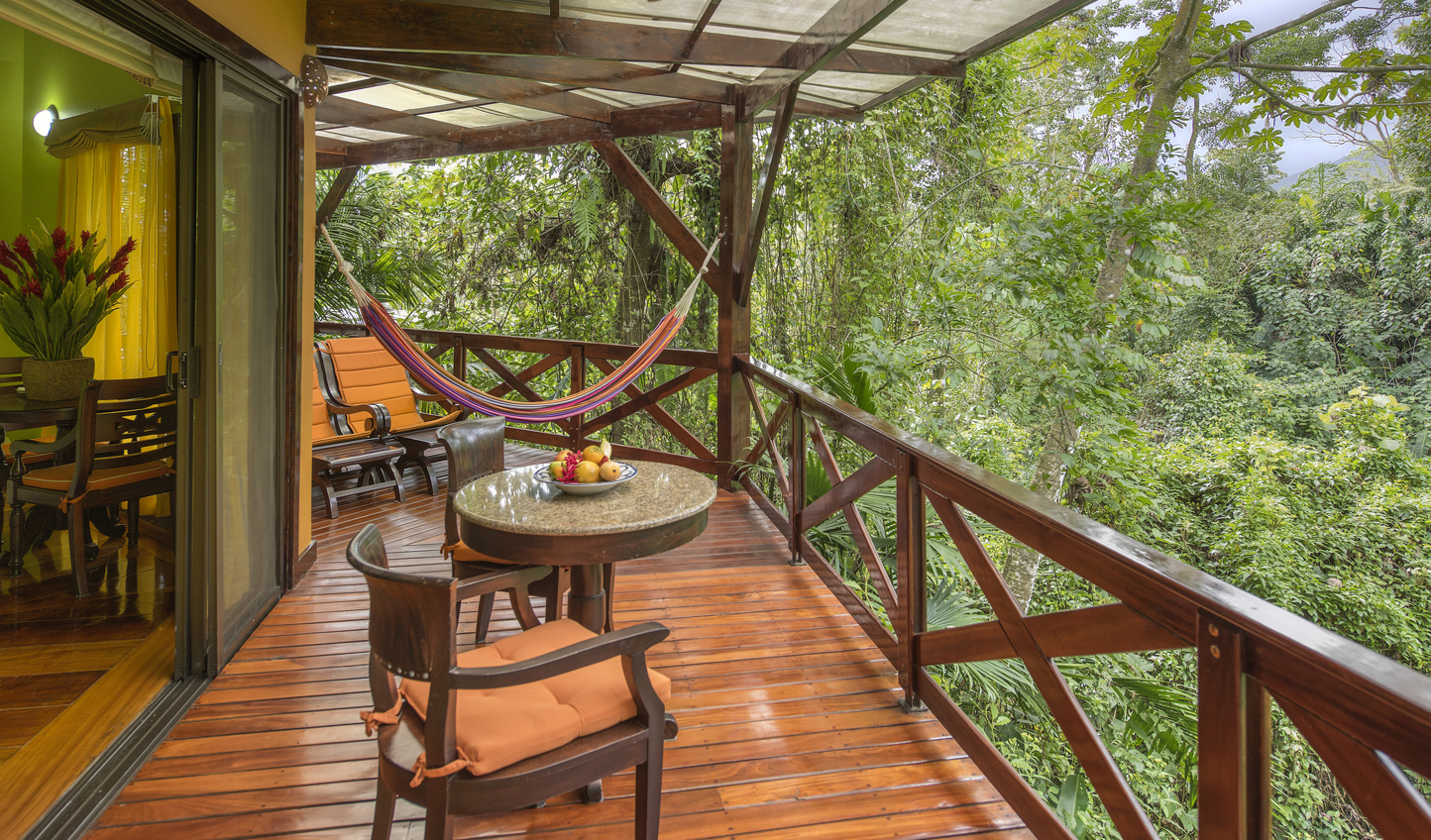 Enjoy tropical jungle views from your villa