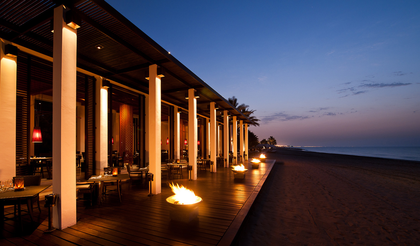 Dine on fresh seafood and feel the sea breeze on your skin