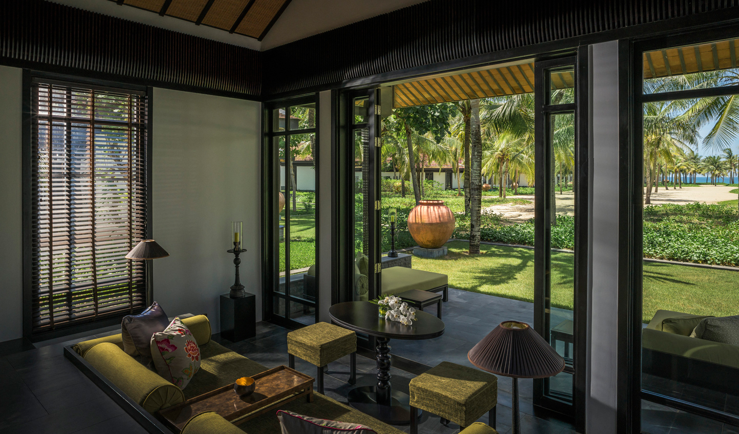 Luscious garden views from your private villa