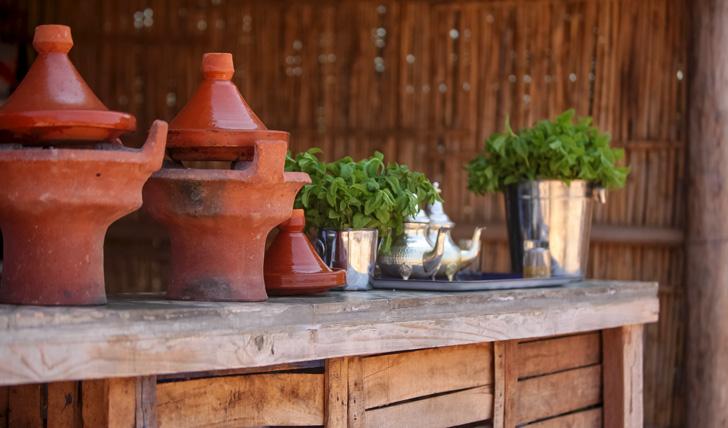 Mint tea at the Fellah