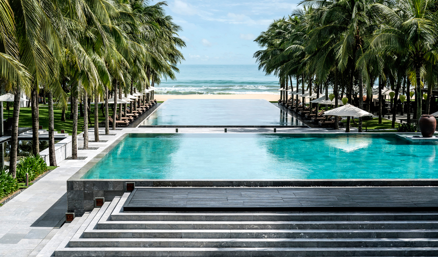 Four Seasons Nam Hai's spectacular swimming pools