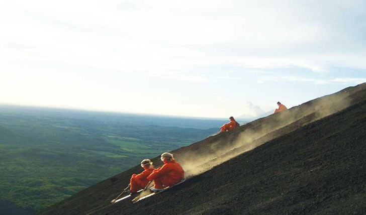 Volcano surfing - adrenaline guaranteed