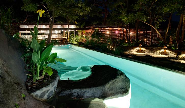 Take a night time dip in the pool