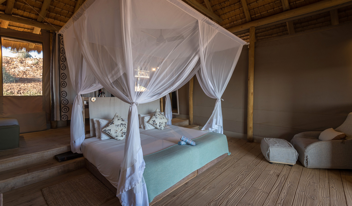Sleep soundly in the African-chic bedrooms