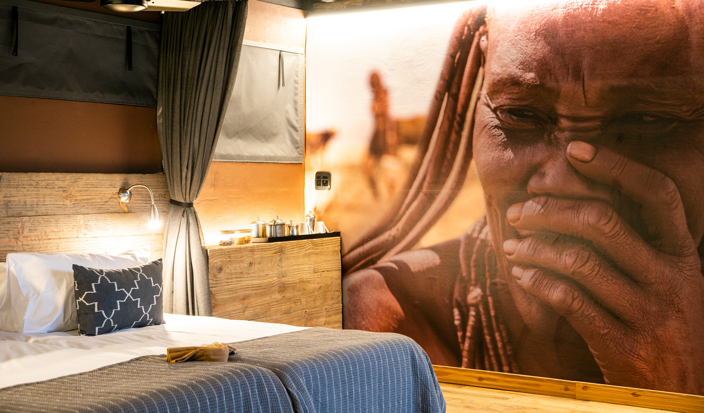 Local Himba culture is brought into your room