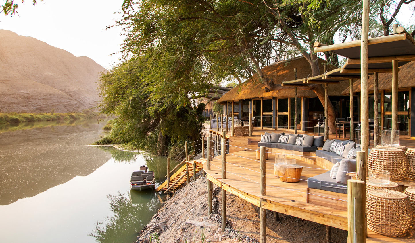 Rest up on the banks of the Kunene River at Serra Cafema