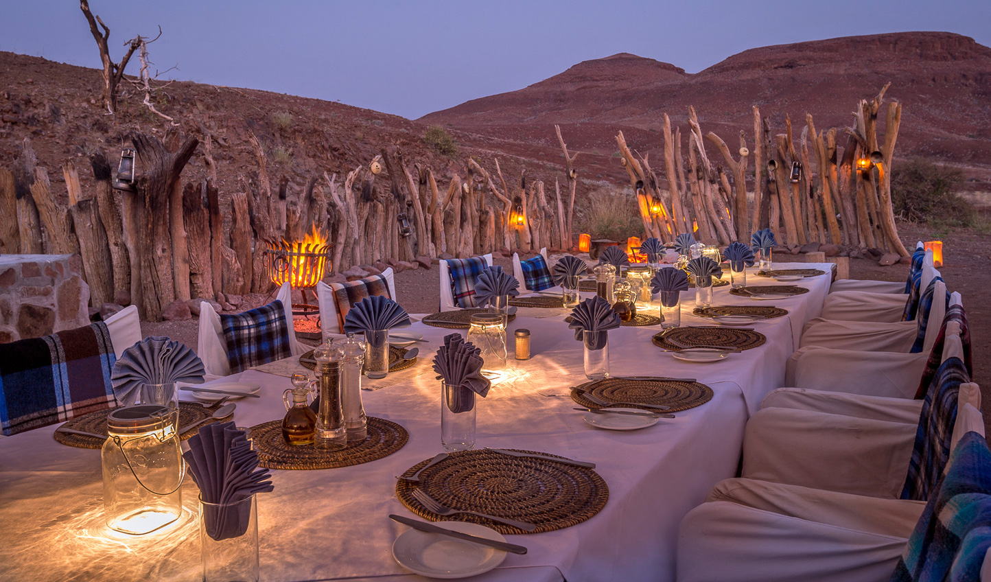 Dine beneath the wide open night skies