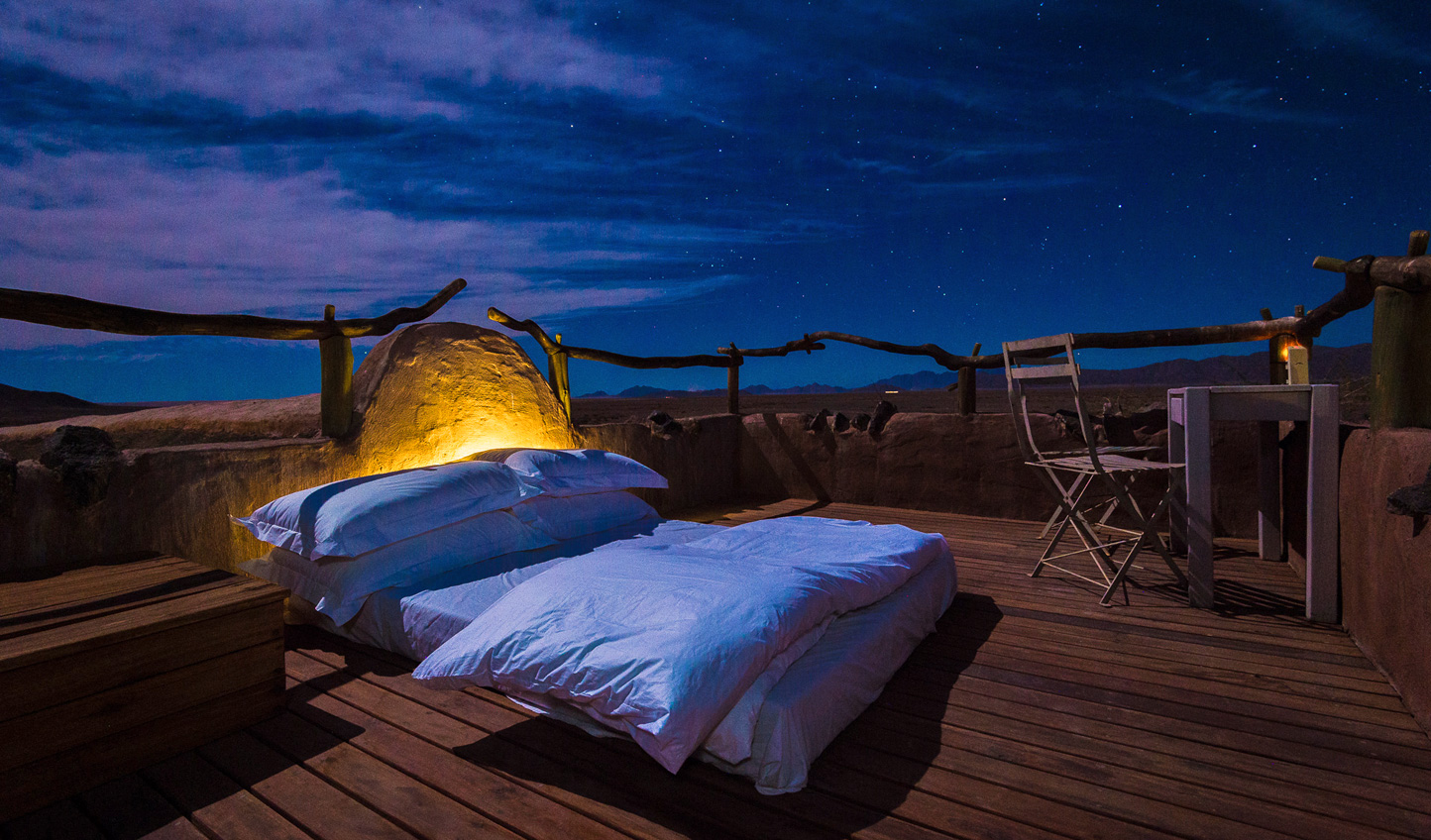 Slumber beneath the wide-open Namibian skies