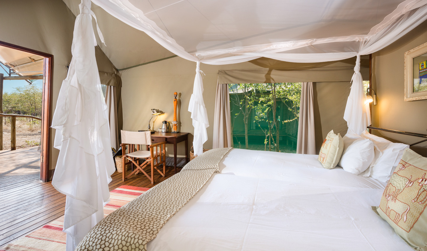 Get up close with nature in your luxury tent at Ongava Tented Camp