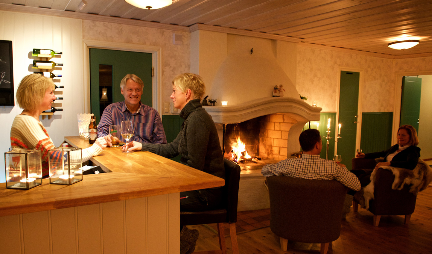 Cosy up by the fire or have a drink at the bar