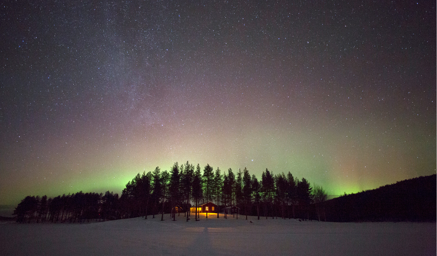 See the northern lights from the comfort of your camp