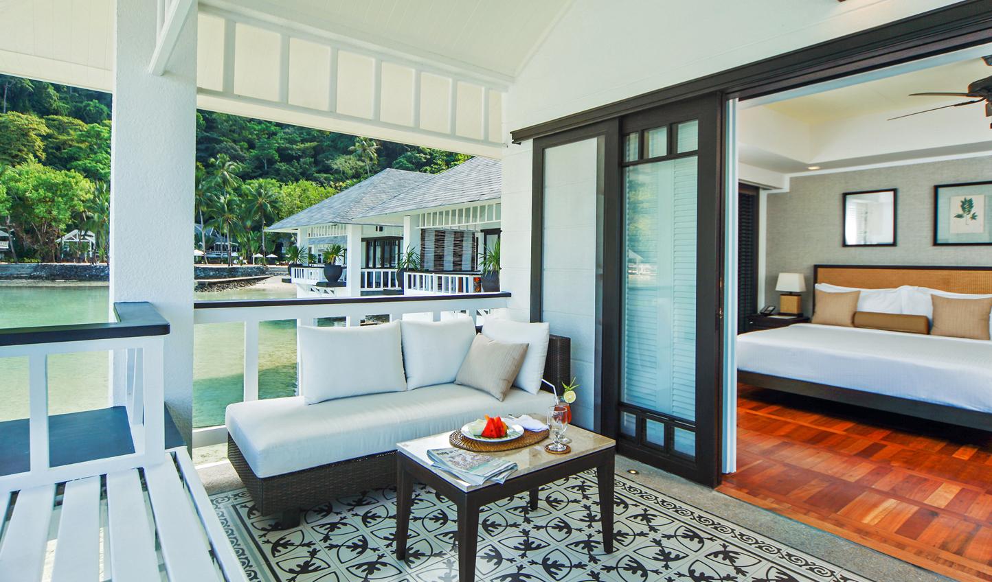Each bungalow has its own terrace