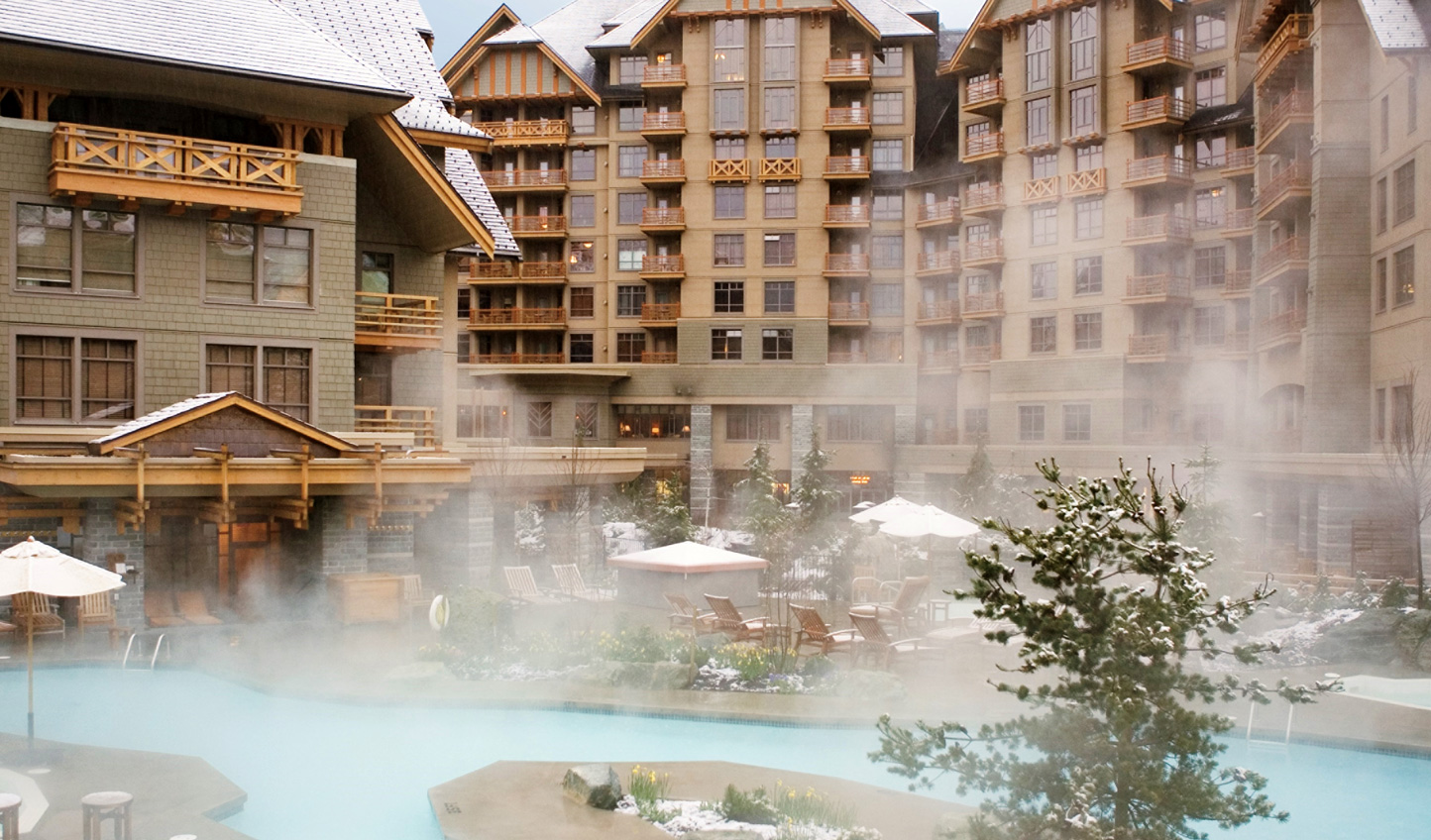 Enjoy a dip in the pool after a day on the mountain