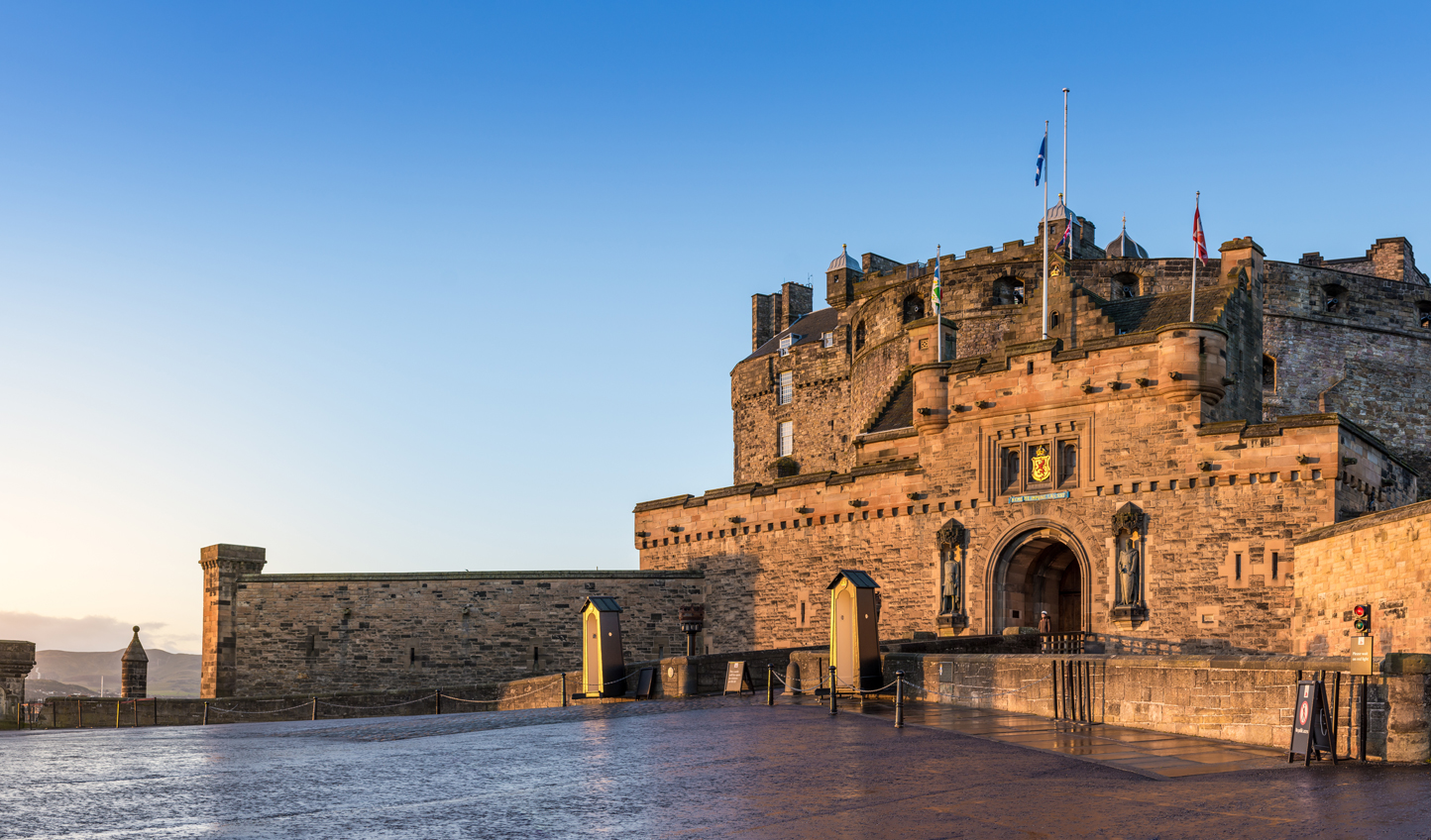 Head up the hill to Edinburgh Castle and look out over the Ramparts to the city around you