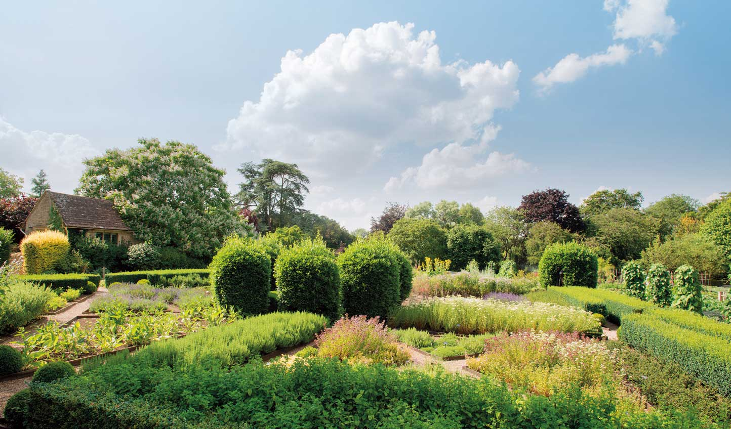 Stroll through the beautiful gardens of Le Manoir, making sure to stop off at the Kitchen Garden