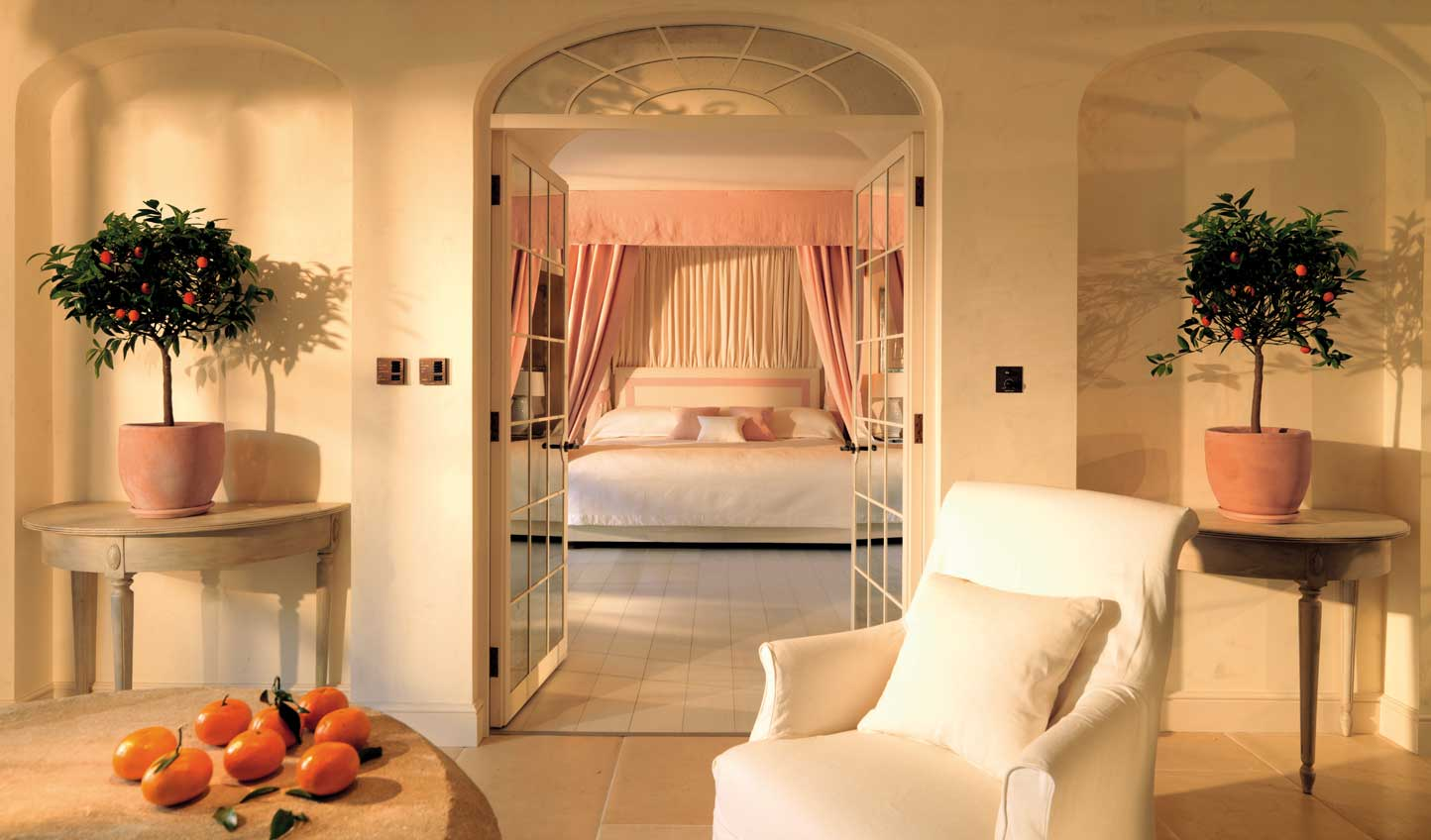 After a two-michelin star dinner, rest your head in one of the gorgeous Le Manoir suites