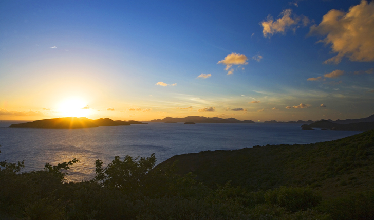 sun set BVI