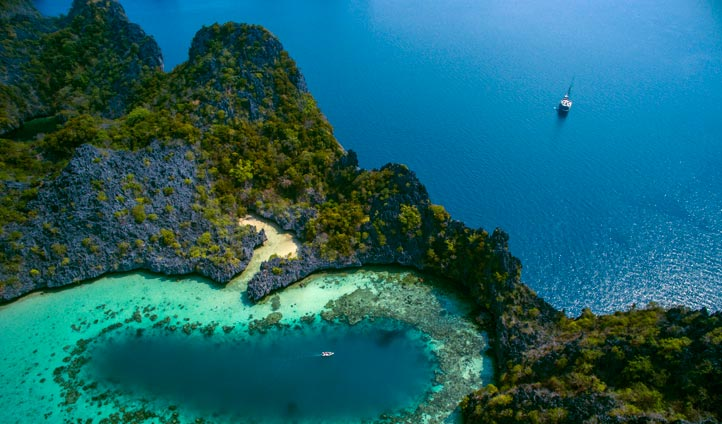 Mergui Archipelago from above